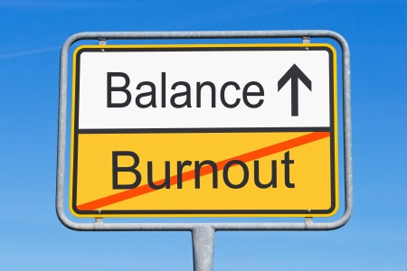 stressed out: Burnout and Balance Stock Photo