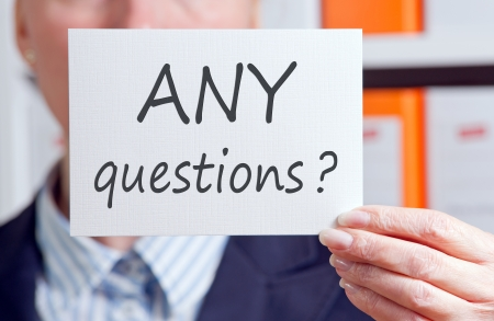 ANY questions Stock Photo - 17982145