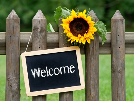 welcome sign: Welcome Stock Photo