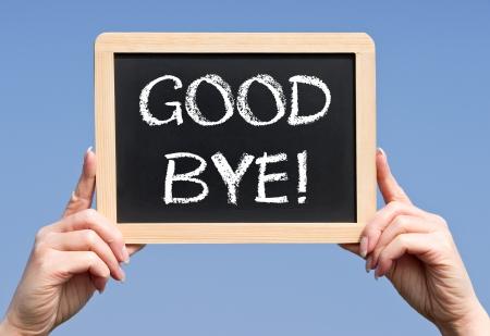 the farewell: Adiós Foto de archivo