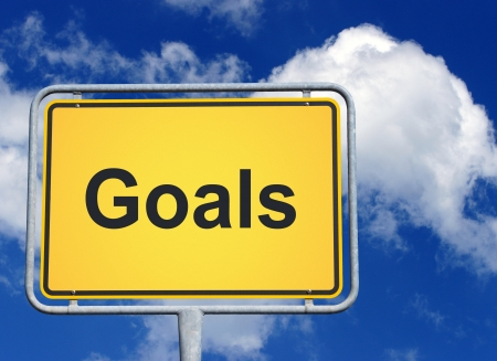 marketingplan: Goals Stock Photo