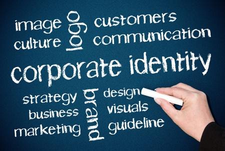 pr: Corporate Identity Stock Photo