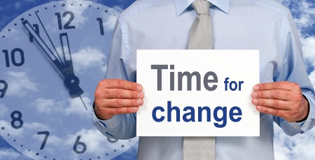 change business: Time for change Stock Photo