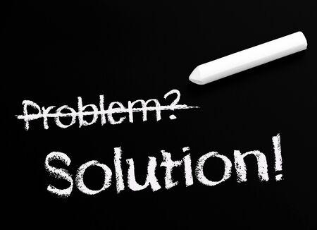 Problem and Solution - Business Concept photo
