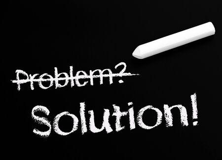 Problema y Solución - Concepto De Negocio Foto de archivo