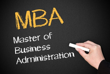 MBA - Master of Business Administration Stock Photo