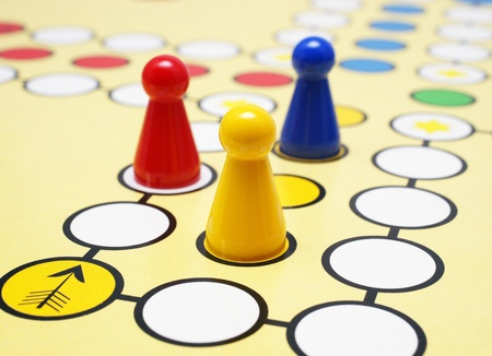 game board: Parlor game Stock Photo
