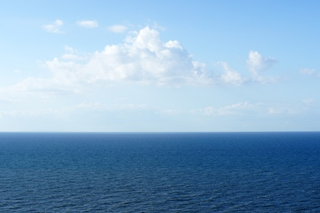 sea in the horizon: Ocean and blue Sky Stock Photo