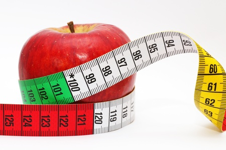 Diet Concept with Apple photo