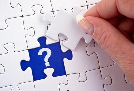 preguntando: Cuestión Foto de archivo