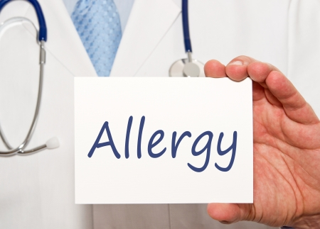 food allergy: Allergy Stock Photo