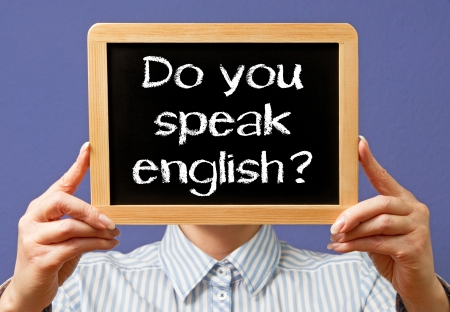 Do you speak english Stock Photo - 18101707