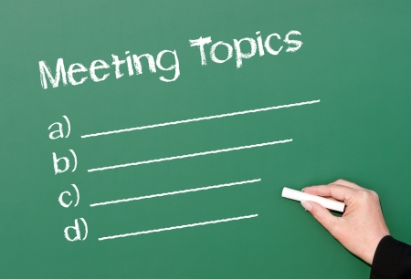 Meeting Topics photo