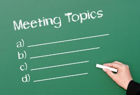 Meeting Topics Stock Photo