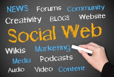 Social Web Stock Photo