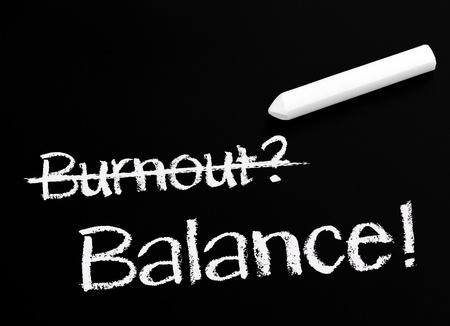 life balance: Burnout and Balance Stock Photo