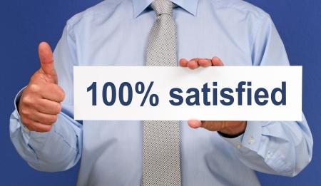 100 percent satisfied photo