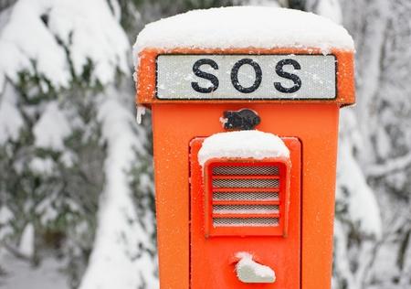 SOS Telephone Stock Photo - 18159325