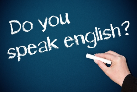 Do you speak english Stock Photo - 18159330