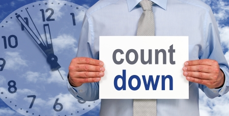 count down Stock Photo - 18224754
