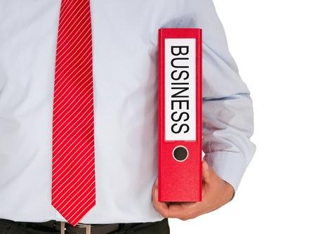 marketingplan: Businessman with Business Binder Stock Photo