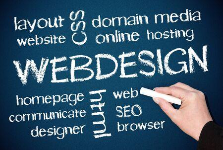 webhosting: WEBDESIGN Stock Photo