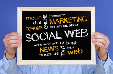 newsgroup: Social Web - Business Concept Stock Photo