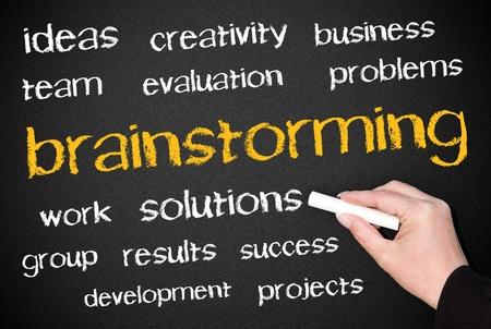 marketingplan: Brainstorming Stock Photo