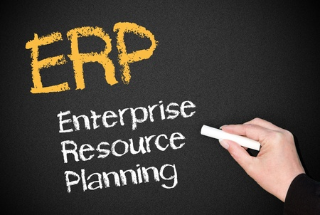 ERP - Enterprise Resource Planning Stock Photo - 18384459