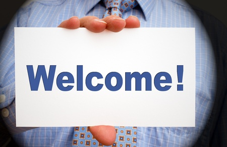 welcome people: Welcome Stock Photo