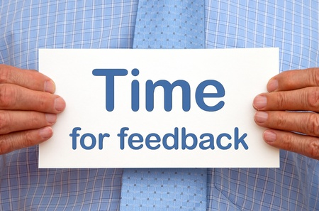 customer survey: Time for feedback Stock Photo