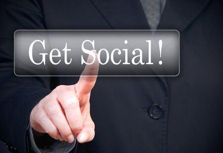 Get Social   Stock Photo - 18496459