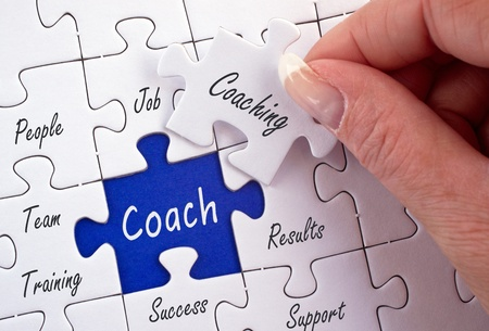 instructing: Coach Stock Photo