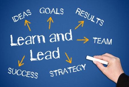 liderazgo: Aprender y plomo Foto de archivo