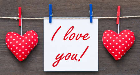 handcrafted: I love you   Stock Photo