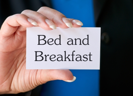 accomodation: Bed and Breakfast Stock Photo