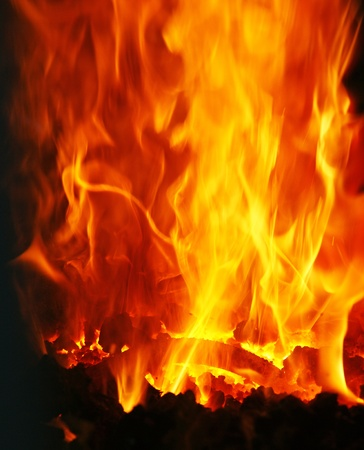 The burning Fire Stock Photo - 18787871