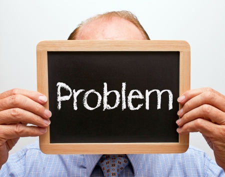 Man with Problem Stock Photo - 18787901
