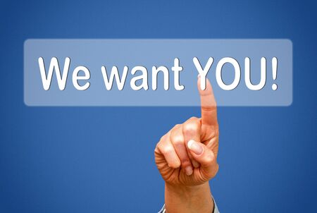 We want YOU   Stock Photo