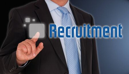 finding employment: Recruitment Stock Photo