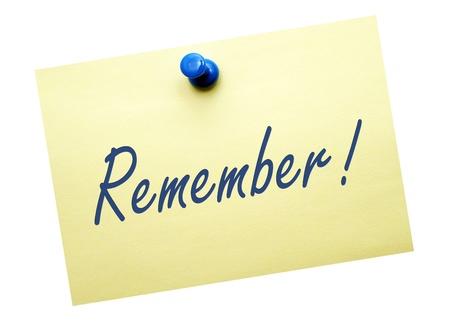 remember: Remember   Stock Photo