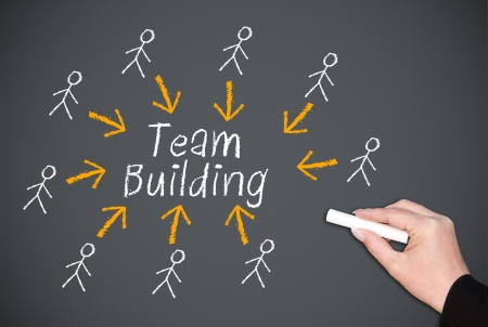 team strategy: Team Building Stock Photo