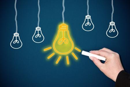marketingplan: Great Idea Concept Stock Photo