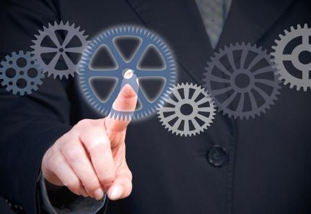 cogwheels: Business Teamwork Concept Stock Photo