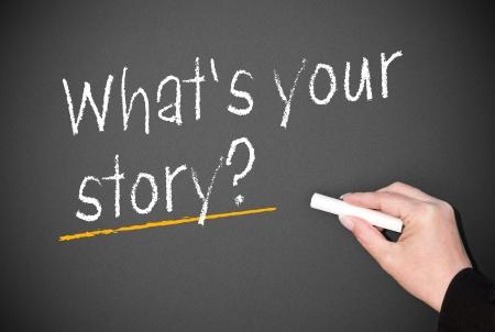 story: �Cu?es su historia Foto de archivo