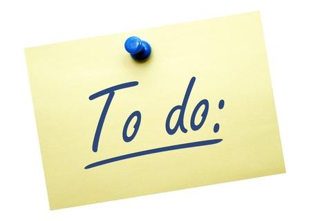 to do list: To do Stock Photo