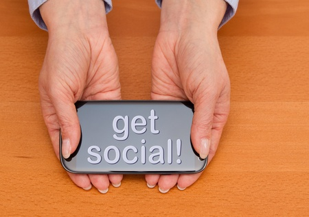 get social Stock Photo - 19379272