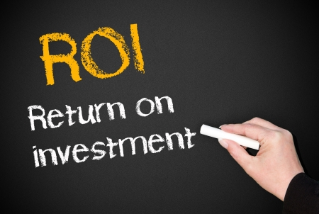 total loss: ROI - Return on Investment Stock Photo