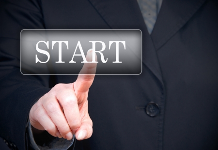 starting a business: Start Button Stock Photo
