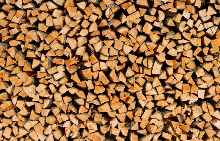 forestry industry: Stack of Wood